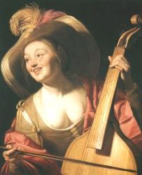 Gerrit van Honthorst: Violaspielerin (Kat. Nr. 28)