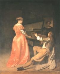 Jacob van Ochtervelt: Das Duett (Kat. Nr. 37)