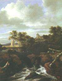Jacob Isaacksz. van Ruisdael: Ruinenlandschaft mit Wasserfall (Kat. Nr. 48)
