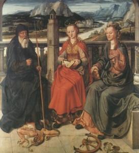 Die Heiligen Barbara, Antonius und Katharina