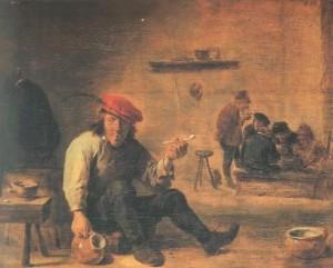 Der Raucher in der Wirtsstube