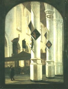 Innenansicht der »Oude Kerk« in Delft