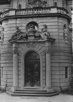 Stadtseite des Heylshofes: Portalanlage